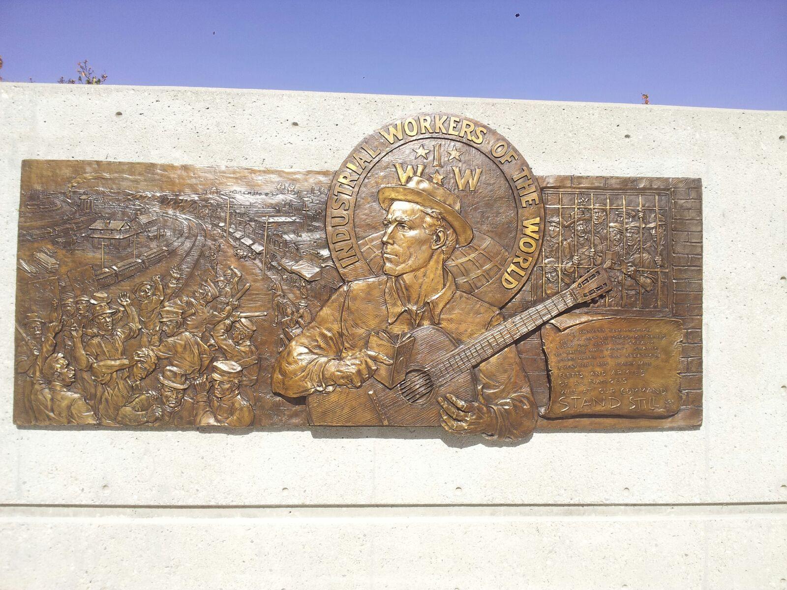 Joe Hill Memorial Plaque at Liberty Hill Plaza
