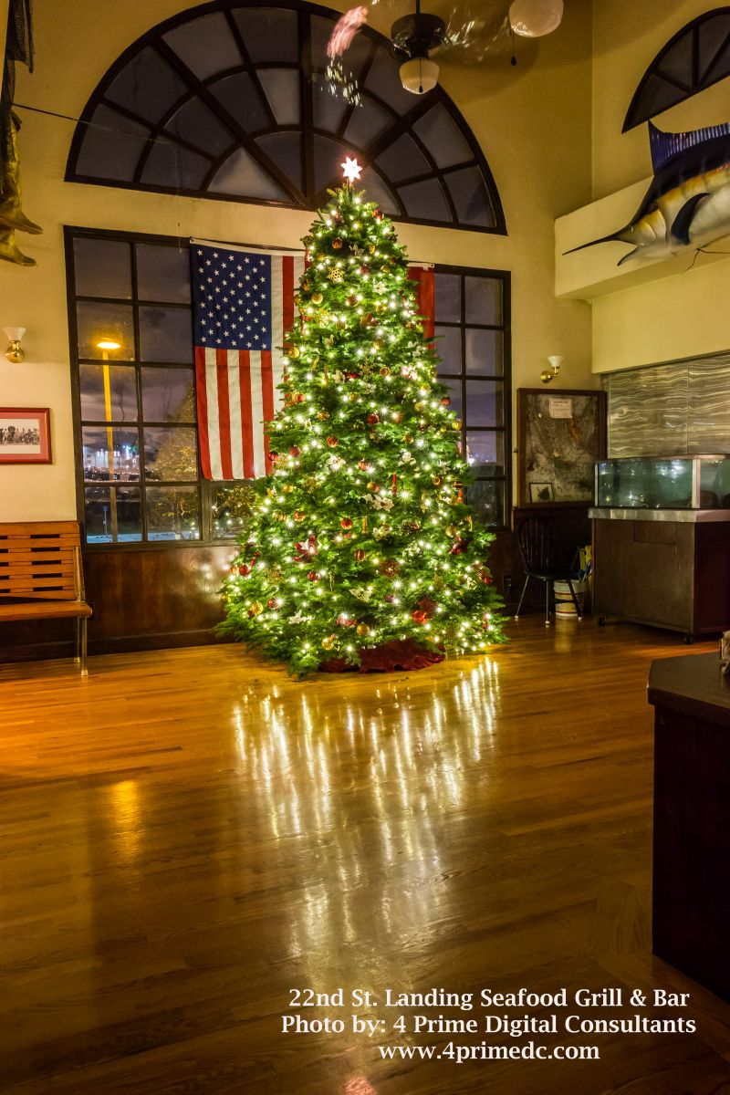 Christmas tree at 22nd Street Landing Seafood Grill and Bar
