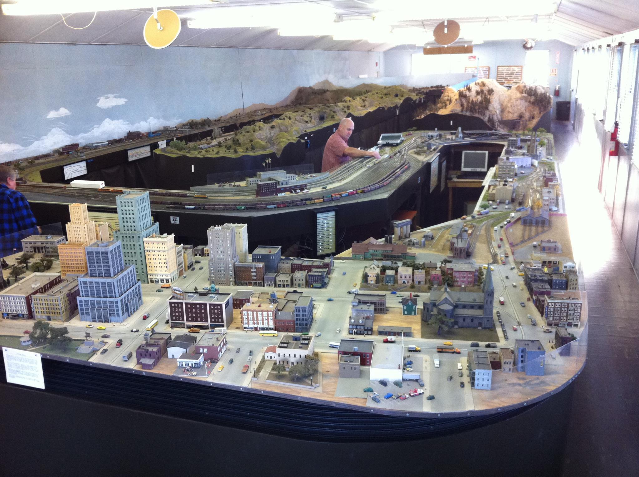 Belmont Shore Model Railroad Club layout overview