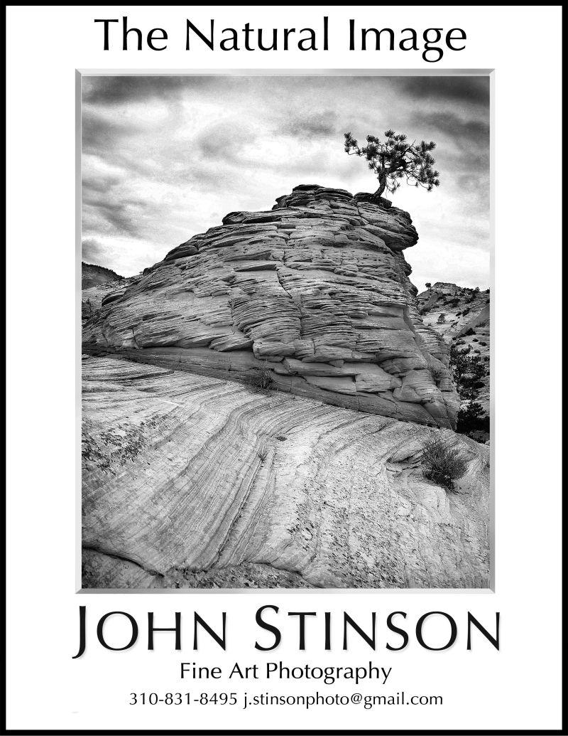 Ad for John Stinson exhibition at San Pedro Visitor Center