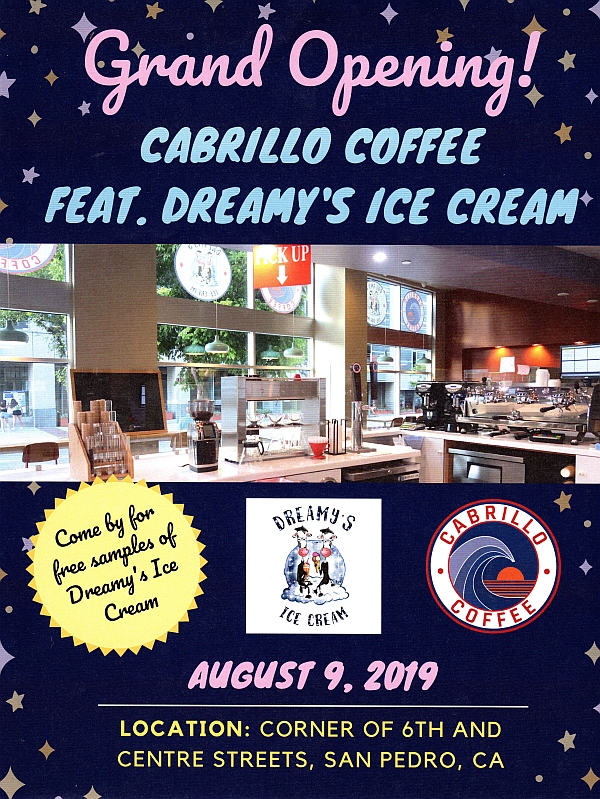 Grand opening flyer Cabrillo Coffee