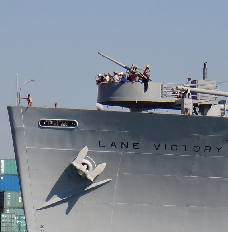 SS Lane Victory is a World War II era steam ship on the LA Waterfront