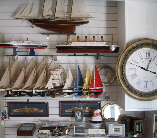 Photo of nautical merchandise in a store