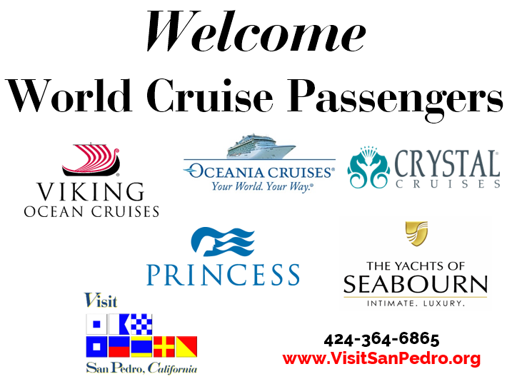 Welcome world cruise passengers logos from cruise lines