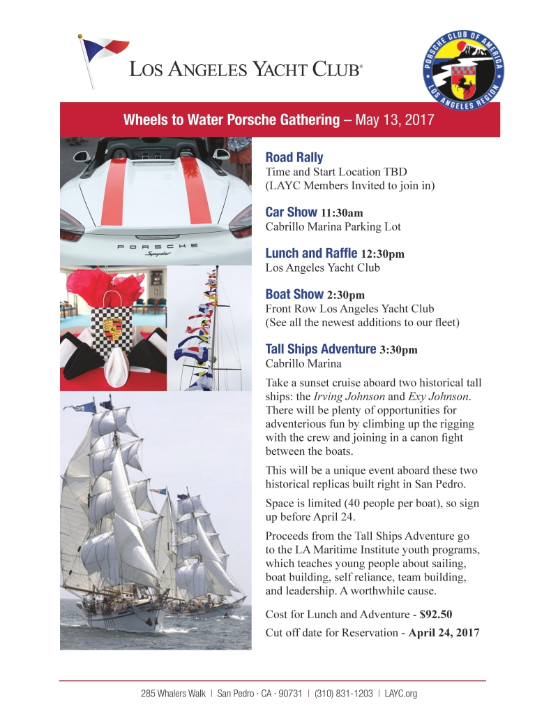 Wheels to Water flyer