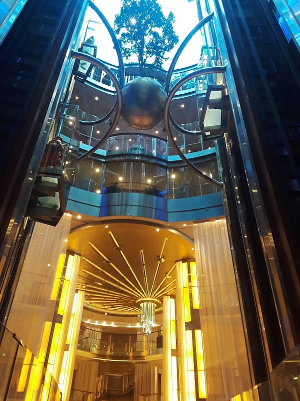 Photo of atrium on board Celebrity Eclipse