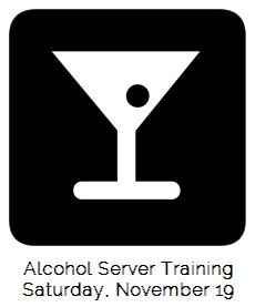 Alcohol server training October 15