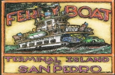 Ferry Boat Original Art