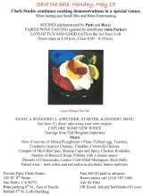 Chef's Studio May 15 flyer