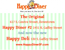 Happy Diner three locations