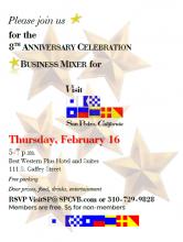 Visit San Pedro 8th Anniversary Invitation